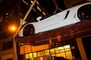 Hoisting Lamborghini