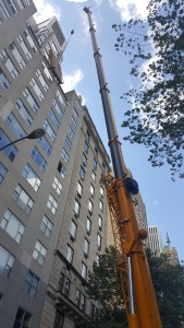 Rigging into tall building